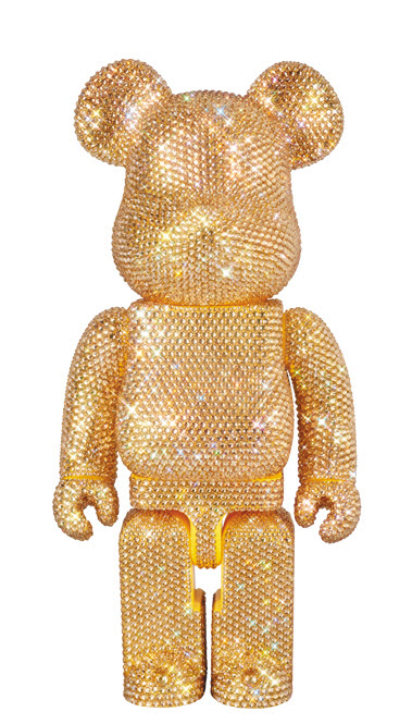 Bearbrick Crystal [Gold] (400%)