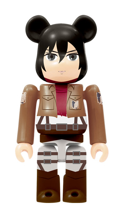 Bearbrick Attack on Titan [Mikasa Ackerman] (100%)