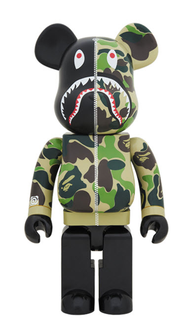 Bearbrick Bape [Camo Shark - Green] (1000%)