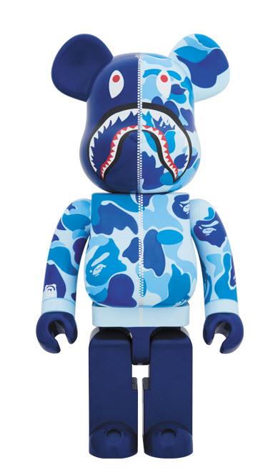 Bearbrick Bape [Camo Shark - Blue] (1000%)