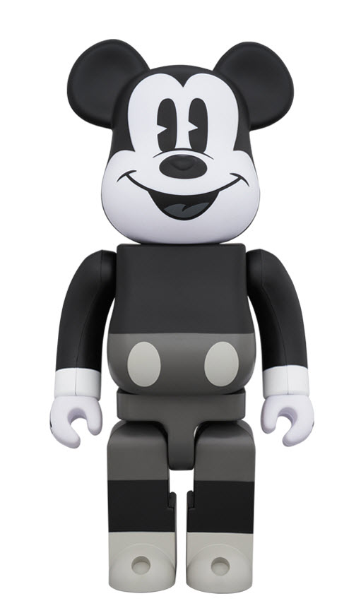 Bearbrick Mickey Mouse [Black & White Ver.] (400%)