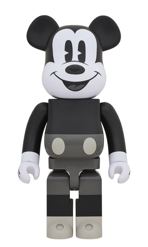 Bearbrick Mickey Mouse [Black & White Ver.] (1000%)