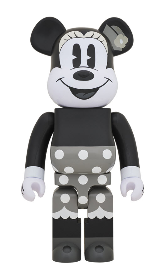Bearbrick Minnie Mouse [Black & White Ver.] (1000%)
